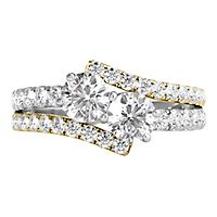 Helzberg Limited Edition® Exclusively Us® 2 ct. tw. Diamond Ring in 14K White & Yellow Gold