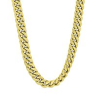 Men's Miami Cuban Link Chain in 14K Yellow Gold, 22
