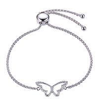 Butterfly Bolo Bracelet in Sterling Silver