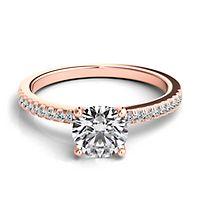 Helzberg Diamond Masterpiece® 1 1/8 ct. tw. Diamond Engagement Ring in 18K Rose Gold