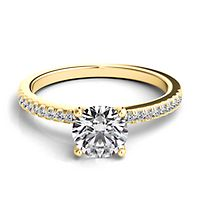 Helzberg Diamond Masterpiece® 1 1/8 ct. tw. Diamond Engagement Ring in 18K Yellow Gold