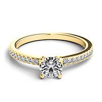Helzberg Diamond Masterpiece® 5/8 ct. tw. Diamond Engagement Ring in 18K Yellow Gold