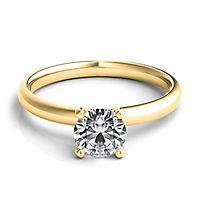 Helzberg Diamond Masterpiece® 3/4 ct. tw. Diamond Solitaire Engagement Ring in 18K Yellow Gold