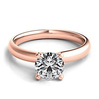 Helzberg Diamond Masterpiece® 1 ct. tw. Diamond Solitaire Engagement Ring in 18K Rose Gold