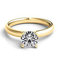 Helzberg Diamond Masterpiece® 1 ct. tw. Diamond Solitaire Engagement Ring in 18K Yellow Gold