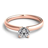 Helzberg Diamond Masterpiece® 1/2 ct. tw. Diamond Solitaire Engagement Ring in 18K Rose Gold