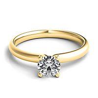 Helzberg Diamond Masterpiece® 1/2 ct. tw. Diamond Solitaire Engagement Ring in 18K Yellow Gold