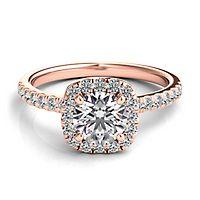 Helzberg Diamond Masterpiece® 1 ct. tw. Diamond Engagement Ring in 18K Rose Gold