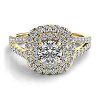 Helzberg Diamond Masterpiece® 1 ct. tw. Diamond Engagement Ring in 18K Yellow Gold