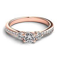 Helzberg Diamond Masterpiece® 5/8 ct. tw. Diamond Engagement Ring in 18K Rose Gold