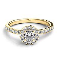 Helzberg Diamond Masterpiece® 3/4 ct. tw. Diamond Engagement Ring in 18K Yellow Gold