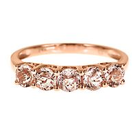 Morganite Ring in 10K Rose Gold