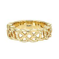 Rony Tennenbaum® Wedding Band in 14K Yellow Gold, 7MM