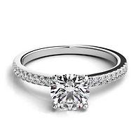 Helzberg Diamond Masterpiece® 1 1/8 ct. tw. Diamond Engagement Ring in 18K White Gold