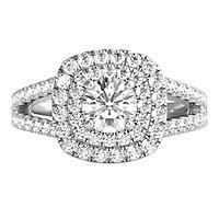Helzberg Diamond Masterpiece® 1 ct. tw. Diamond Engagement Ring in 18K White Gold