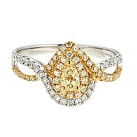 5/8 ct. tw. Yellow & White Diamond Ring in 14K Yellow & White Gold