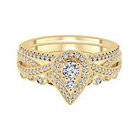 1/2 ct. tw. Diamond Engagement Ring Set in 10K Yellow Gold