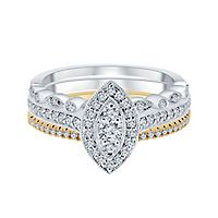 1/2 ct. tw. Diamond Engagement Ring Set in 10K White & Yellow Gold