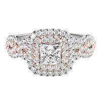 TRULY™ Zac Posen 1 ct. tw. Diamond Engagement Ring in 14K White & Rose Gold