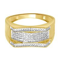Men's 1/5 ct. tw. Diamond Ring in 10K Yellow Gold, 10.8MM