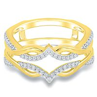 1/5 ct. tw. Diamond Ring Enhancer in 10K Yellow Gold