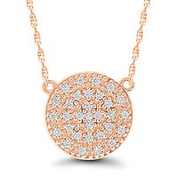 1/10 ct. tw. Diamond Necklace in 10K Rose Gold