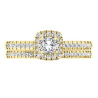 3/4 ct. tw. Diamond Engagement Ring Set in 14K Yellow Gold