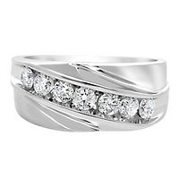 Men's 1 ct. tw. Diamond Ring in 10K White Gold