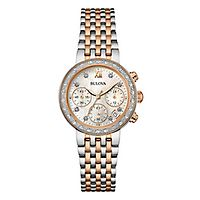 Bulova® Diamond Chronograph Ladies' Watch