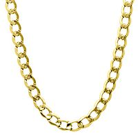 Men's Curb Chain in 10K Yellow Gold, 20