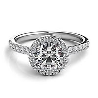 Helzberg Diamond Masterpiece® 1 1/4 ct. tw. Diamond Engagement Ring in 18K White Gold