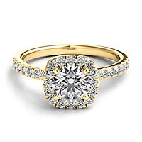 Helzberg Diamond Masterpiece® 1 ct. tw. Diamond Engagement Ring in 18K Yellow Gold