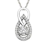 1/7 ct. tw. Diamond Pendant in 10K White Gold