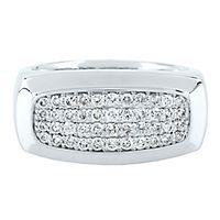 Men's 3/4 ct. tw. Diamond Ring in 10K White Gold, 9.5MM