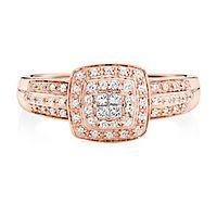 1/4 ct. tw. Diamond Ring in 10K Rose Gold