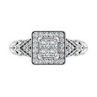 1/2 ct. tw. Multi-Diamond Engagement Ring in 10K White Gold