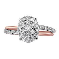 3/4 ct. tw. Multi-Diamond Engagement Ring in 14K Rose Gold