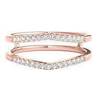 1/7 ct. tw. Diamond Ring Enhancer in 14K Rose Gold