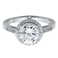 Diamonvita® 2 1/3 ct. tw. Simulated Diamond Ring in Sterling Silver