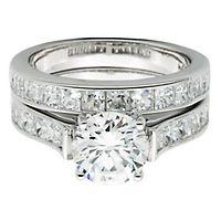 Diamonvita® 4 1/2 ct. tw. Simulated Diamond Ring Set in Sterling Silver