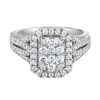 1 1/4 ct. tw. Multi-Diamond Engagement Ring in 14K White Gold