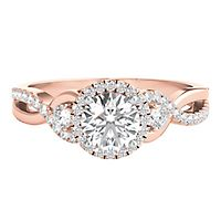 Helzberg Limited Edition® 1 ct. tw. Diamond Engagement Ring in 14K Rose & White Gold