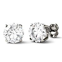 Forever One® 3 ct. tw. Moissanite Stud Earrings in 14K White Gold