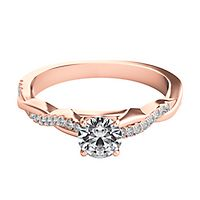 Helzberg Diamond Masterpiece® 1/2 ct. tw. Diamond Engagement Ring in 18K Rose Gold