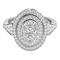 Helzberg Limited Edition® 1 ct. tw. Diamond Ring in 14K White Gold