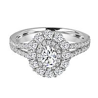 My Diamond Story® 1 1/2 ct. tw. Diamond Engagement Ring in 14K White Gold
