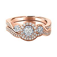 1/2 ct. tw. Diamond Engagement Ring Set in 10K Rose Gold