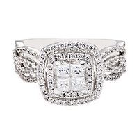 1 1/3 ct. tw. Diamond Engagement Ring in 14K White Gold