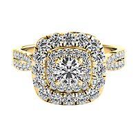 Helzberg Diamond Masterpiece® 1 3/8 ct. tw. Diamond Engagement Ring in 18K Yellow Gold