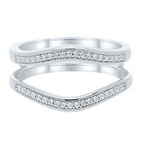 1/5 ct. tw. Diamond Ring Enhancer in 10K White Gold